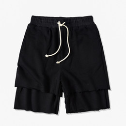 running apparel 2019 - Men Pure Color Panelled Shorts Sports Male Running Pants Summer Casual Drawstring Apparel Fashion Designer Loose Short P