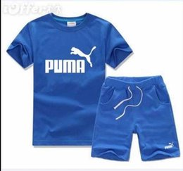 Wholesale SALE New Style Children s Clothing For Boys And Girls Sports Suit Baby Infant Short Sleeve Clothes Kids Set