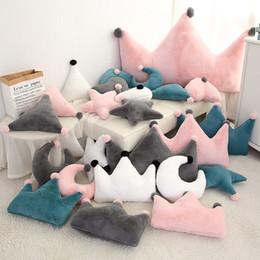 $enCountryForm.capitalKeyWord Australia - New ins plush toy stars moon pillow gift crown sofa cushion photo decoration children's room bedding