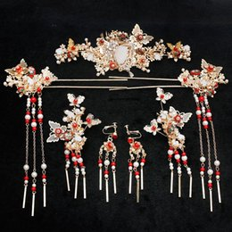 chinese hairpins Australia - Chinese traditional national ladies bride marriage vintage headdress hair jewelry bride wedding hairpin festival gift