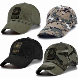 9aaea5ae6b1 Caps militares US Army Pentagram Cap Cap Calidad superior Caza militar  Sombrero de pesca Sombreros de béisbol de camuflaje al aire libre Ajustable