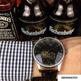 Cheap diamond bezel watChes online shopping - HOT SILVER diamond BEZEL MM CASE STOCK cheap automatic mechanical luxury sport men watch new Stainless steel Mens watches