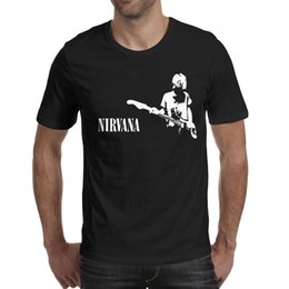 $enCountryForm.capitalKeyWord Australia - Nirvana playing Guitar 2019 Summer personalised T Shirt For Men graphic slim fit shirts