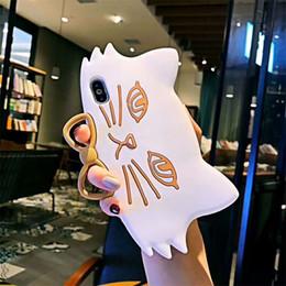 Cute 3D Cat Лицевая Крышка Для Iphone X XR XS MAX Мягкий Силиконовый Чехол для Телефона Задняя Крышка Для 6 7 8 Plus