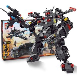 $enCountryForm.capitalKeyWord NZ - Toys Gifts Compatible with boy large military three variable robot mechanical special police combat car puzzle assembled building blocks toy
