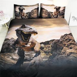 $enCountryForm.capitalKeyWord Australia - Boys Bedding Dinosaur Kids Teens Adults 3 Piece Duvet Cover 2 Pillow Shams Bed Set Grey Comforter Cover Brown Bedspreads Coverlets Gifts