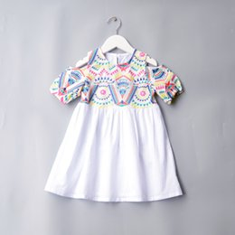 Child Girl Tutu Sweet Floral Australia - 2019 Summer Baby Girls Dress Florals Embroidery Sweet Short Sleeve Dress Children Casual Cotton Dresses 4994