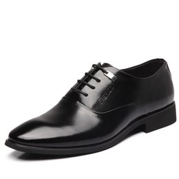 $enCountryForm.capitalKeyWord NZ - Mens Height Increasing Shoes Genuine Leather Classic Elevator 6CM Mens Formal Dress Shoes Male Black Wedding Business Oxford Shoes For Men