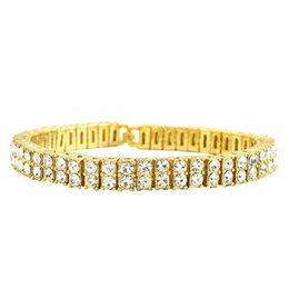 $enCountryForm.capitalKeyWord UK - Hot popular Europe and America hip hop two row jewelry charm bracelet men's rhinestone bangles for men Gift
