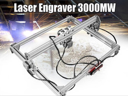 Cutter Engraving Australia - 50*65cm Mini 3000MW Blue CNC Laser Engraving Machine 2Axis DC 12V DIY Engraver Desktop Wood Router Cutter Printer+ Laser Goggles