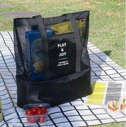 $enCountryForm.capitalKeyWord Australia - picnic Portable shoulder bag insulation double picnic bag men and women grid storage package ice pack