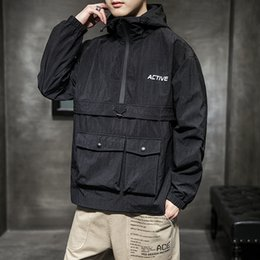 $enCountryForm.capitalKeyWord Australia - New Mens Jackets and Coats Autumn Hip hop Pocket Hooded Jacket Men Bomber street Jacket Teen Top Jackets for Men Streetwear