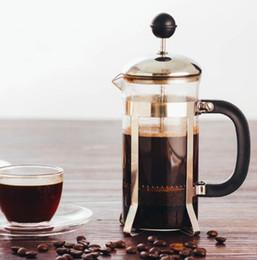 Filter Boxes Australia - NEW Pressure pot method french press coffee pot glass tea maker handmade coffee filter press pots
