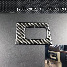 Carbon Engine Australia - Fashion Design Carbon Fiber Car Keyhole Panel Frame Decorative Sticker Switch Engine Start Stop Button for BMW 3 Series E90 E92 2005-2012