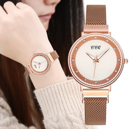 Watches personality online shopping - CCQ Fashion Personality Dial Stainless Steel Mesh Belt Ladies Quartz Watch Women Watch Clock reloj mujer Elegant