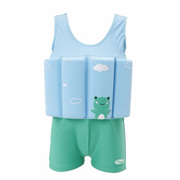 $enCountryForm.capitalKeyWord Australia - Hot Children Swimwear With Floating Foam Girls Boys Infant Baby Safe Nylon Spandex Swimsuit Swimming Pool Swimsuit