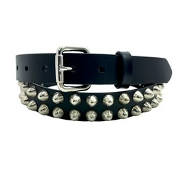 $enCountryForm.capitalKeyWord Australia - western Stylish Women top quality Genuine Leather Heavy Metal Rivet Punk Belts Rock Stud Cowgirl Belt