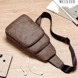 sport shoulder messenger bag NZ - Factory wholesale men handbag multifunctional sports casual shoulder bag new grey leather messenger bag street trend leather shoulder bag pe