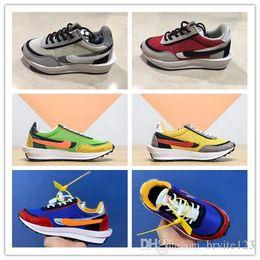 $enCountryForm.capitalKeyWord Australia - Kids Running shoes Boys Girls Green Gusto Sneaker Waffle Pine Green Sneakers LDWAFFLE SACAI New LDV Waffle Sports Trainers