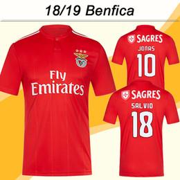 0a1536bb2cc 2018 19 Benfica JONAS GABRIEL Soccer Jerseys SEFEROVIC SALVIO Home Red Mens  Football Shirts Uniforms PIZZI JARDEL Short camisa de futebol
