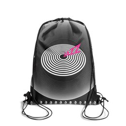 $enCountryForm.capitalKeyWord Australia - Drawstring Sports Backpack Queen Jazz Behind The Albums cute adjustable sack pouch Travel Fabric Backpack