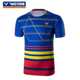 malaysia jerseys 2019 - Original Victor 2018 World Championships Malaysia National Team Competition Badminton Uniform Sport Jersey Clothes for m