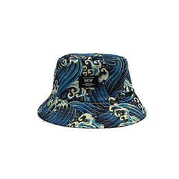 7e141e8544f60 2019 Fashion bucket cap Foldable Fishing Caps Wave Bucket cap good Beach  Sun Visor Sale Folding Man Bowler Cap For Mens Womens good quality
