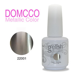 Gel Gloss Wholesalers Australia - 12pcs Metallic Gel Polish High Quality Soak Off Led uv Gel Polish With High Gloss Metallic UV Gel