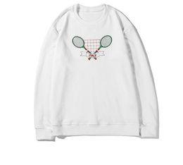 $enCountryForm.capitalKeyWord UK - 2019 fashion autumn clothing designer Brand mens tennis racket letter embroidery hoodies pullover hooded black Cotton casual sweatshirt V89