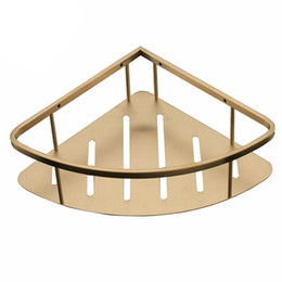 $enCountryForm.capitalKeyWord UK - Wall mounted SUS 304 Stainless Steel Bathroom Shelf Bracket Shelves basket shower Corner Storage Caddy Brushed Gold