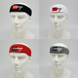Absorbent Cotton Australia - Champion Cotton sweat-absorbent Sports Head Band Turban For Men and Women Fitness net basketball yoga running cotton hair anti-sweat belt