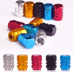 valve sales NZ - Top sale Universal Auto Bicycle Car Tire Valve Caps Tyre Wheel Hexagonal Ventile Air Stems Cover Airtight rims Accessories with retail box