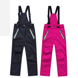 Chinese  SJ-MAURIE Children Ski Pants Waterproof Windproof Winter Snowboard Ski Trousers for Kids Girls Boys Skiing Hiking Pants manufacturers
