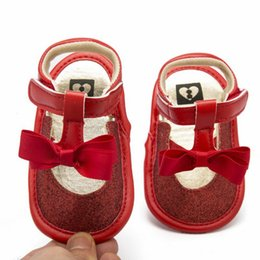 $enCountryForm.capitalKeyWord Canada - Summer Shiny Baby Sandals Shoes With Bowknot Breathable Toddler Girls Non-slip Shoes