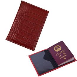 $enCountryForm.capitalKeyWord UK - Russian Crocodile Leather Passport Holder Men Travel Cover Women Passport Case Passport Protective For Travle Document