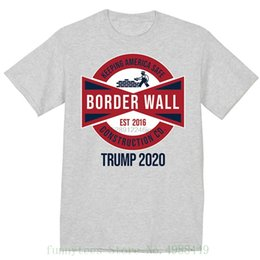 $enCountryForm.capitalKeyWord Australia - Build The Border Wall Construction T Shirt Men Graphic Tee Maga Trump 2020 Colour Funny Printed