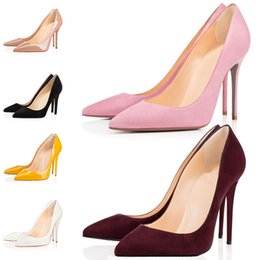 $enCountryForm.capitalKeyWord UK - Hot 2019 Women Shoes Red Bottoms High Heels Sexy Pointed Toe Red Sole 8cm 10cm 12cm Leather Pointed Toes Pumps Dress Wedding Shoes