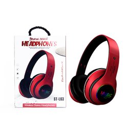 wireless head microphones NZ - Wireless Bluetooth Headset Noise Glowing Cancelling Over Ear With Microphone Super Sound Insulation Effect Head-mounted Set