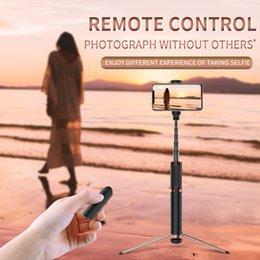 Drahtlose bluetooth selfie stick aluminiumlegierung handheld einbeinstativ auslöser fern faltbare mini stativ für huawei iphone etc. im Angebot