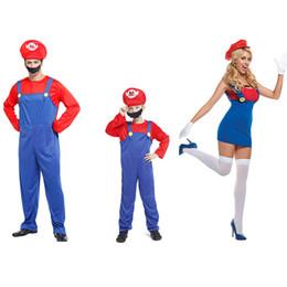 $enCountryForm.capitalKeyWord NZ - Children Funy Cosplay Costume Super Mario Luigi Brothers Plumber Fancy Dress Up Party Costume Cute Kids