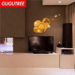 $enCountryForm.capitalKeyWord Australia - Decorate Home 3D love heart cartoon mirror art wall sticker decoration Decals mural painting Removable Decor Wallpaper G-387