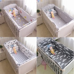 $enCountryForm.capitalKeyWord Australia - Dropshipping 6pc 100%cotton Crib Bumpers Cartoon Bedding Sets Safety Baby Fence Bed Sheets Newborn Bumper Q190530