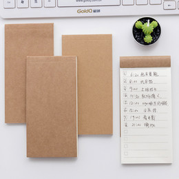 Discount scrapbooking paper pads 50 Sheets Pocket Kraft Paper Memo Pad Notepad Stationery Scrapbooking Memo Notes Tear Checklist Note Pad