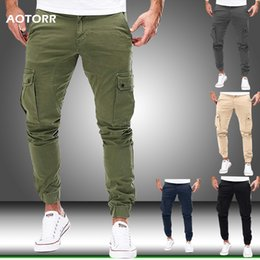 camo sweatpants NZ - Men Cargo Military Pants Autumn Casual Skinny Pants Army Long Trousers Joggers Sweatpants 2020 Sportswear Camo Pants Trendy 2020 CX200615