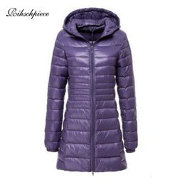 29d5b3982ee Rihschpiece 2018 Spring Plus Size 7XL Ultra Light Duck Down Jacket Women  Coat Hoodie Long Puffer Winter Black Jackets RZF1454