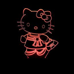 $enCountryForm.capitalKeyWord Australia - Hello Kitty Cat Bedside Decoration 3d Vision Small Desk Lamp Originality Birthday Gift 3d Touch Small Night-light
