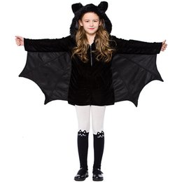 jumpsuit babies Australia - Halloween Costume Baby Girls Cosplay Bat Clothes Children Stage Performance Clothing Kids Child Carnival Party Hoodie Jumpsuit SH190908