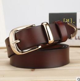 Decorative Leather Belts NZ - New lady leather belt Korean version simple joker pure cowhide buckle belt female wide decorative cow belt wholesale0
