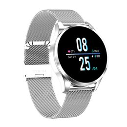 Discount smart watch q1 New Q9 Smart Watch Waterproof Message call reminder Smartwatch men Heart Rate monitor Fashion Fitness Tracker pk Q8 Q1 C