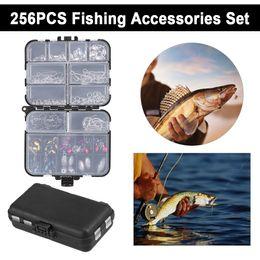 $enCountryForm.capitalKeyWord Australia - 256pcs Fishing Tackle Box Set Fishing Accessories Kit Crank Hooks Sinker Weights Swivels Snaps Connectors Beads